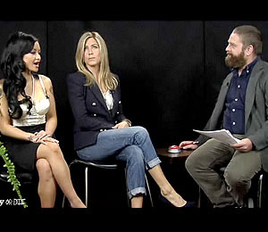 Tila Tequila (and Jen Aniston) in 'Between Two Ferns'