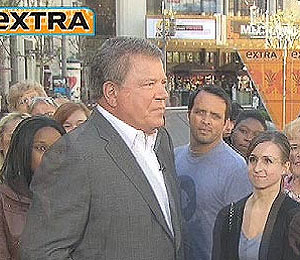 William Shatner Joins 'Extra' at The Grove