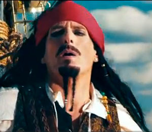 Video! Michael Bolton is Jack Sparrow