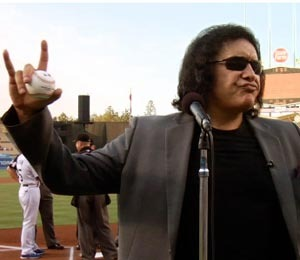 Video! KISS It! Gene Simmons Throws First Pitch