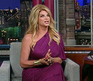 Kirstie Alley Busts David Letterman for Fat Jokes