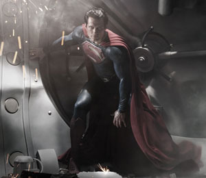 First Look! Henry Cavill as Superman in 'Man of Steel'