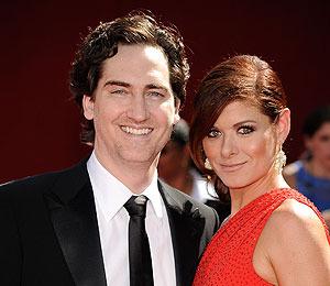 Debra Messing and Husband in Graceful Split