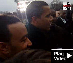 Raw Video: John Legend Meets Obama!