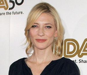 Cate Blanchett Hit by Flying Radio