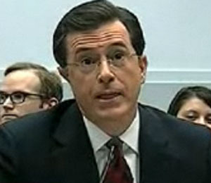 Stephen Colbert Reports for Congress