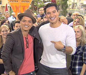 Bruno Mars Gets Serenaded at The Grove!