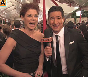 Bloopers with 'Extra' at the Golden Globes!