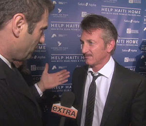 'Extra' with Sean Penn and Others Helping Haiti
