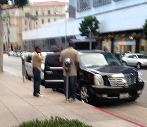 Exclusive Photo! Diddy Moments After Learning Whitney Houston Was Dead