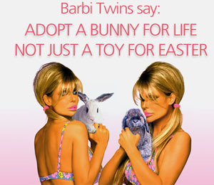 The Barbi Twins' Easter Message: Adopt a Bunny!