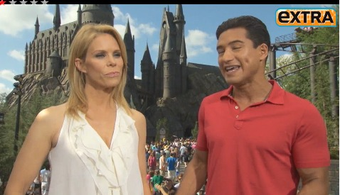 Behind the Scenes: Mario Lopez and Cheryl Hines at Hogwarts!