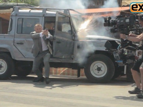 'Extra' Raw! On the Set of 'Skyfall'