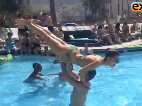 Video! Maria Menounos Practices 'Dancing' Moves in a Bikini