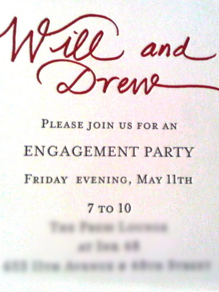 Pics! Drew Barrymore's Engagement Party Invite