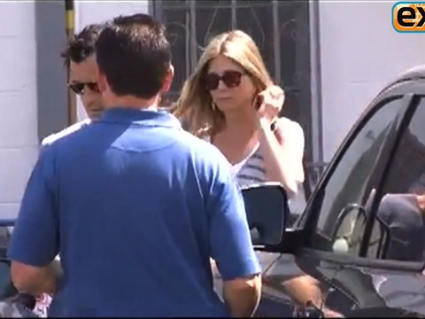 Video! A Jennifer Aniston and Justin Theroux Sighting