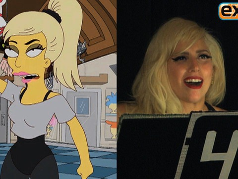 Video! Lady Gaga on 'The Simpsons'