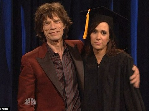 Mick Jagger Hosts 'SNL,' Says Farewell to Kristen Wiig