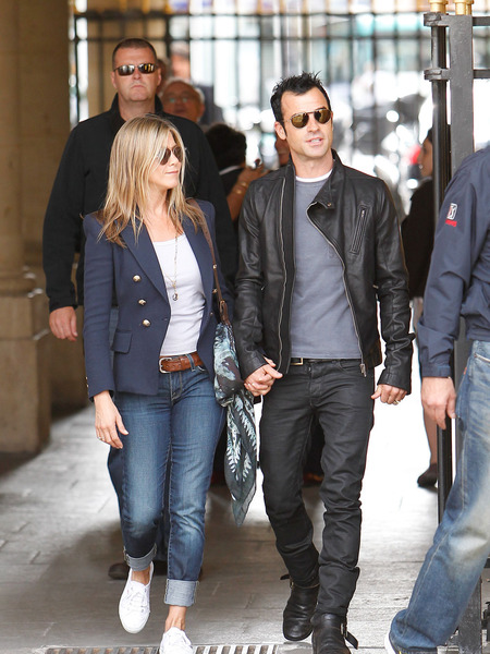 Jen and Justin Show Their Love in Paris