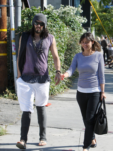 Russell Brand Rips Katy Perry, Steps Out with New Girl