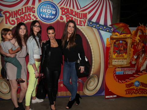 Pics! The Kardashians Join the Circus