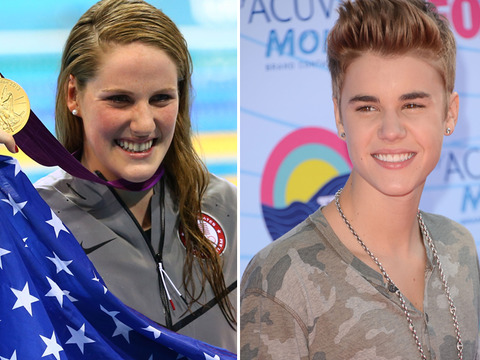 Olympics: Missy Franklin, Jordyn Wieber Hit with Bieber Fever