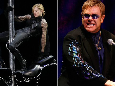Elton John on Madonna: She Looks Like a 'Fairground Stripper'