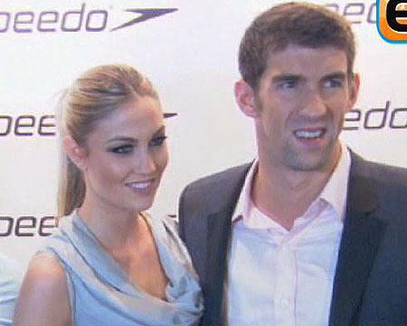 Video! Michael Phelps and GF Attend Speedo Event