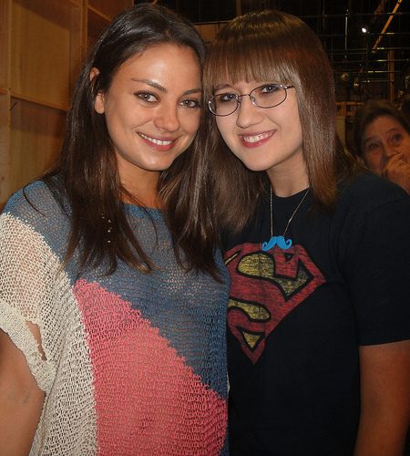 Mila Kunis Hangs Out on the 'Two and a Half Men' Set