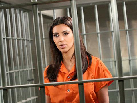 Kim Kardashian Does Jail Time for 'Drop Dead Diva'
