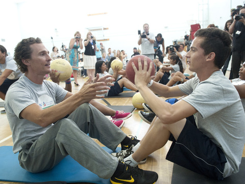 Matthew McConaughey Works Out for a Cause