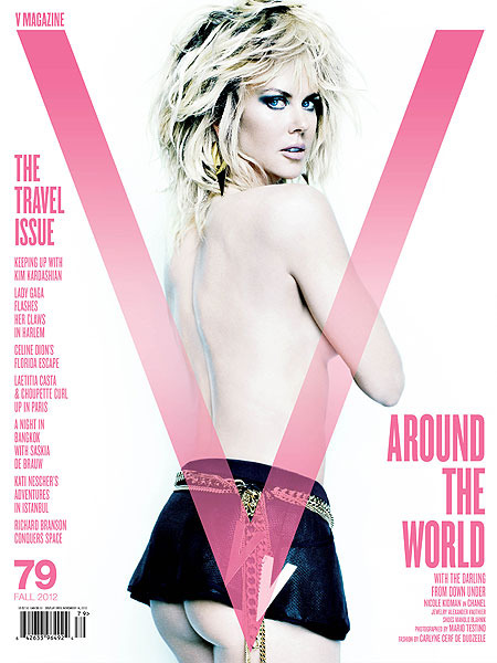 Nicole Kidman Goes Top and Bottomless in V Magazine Shoot