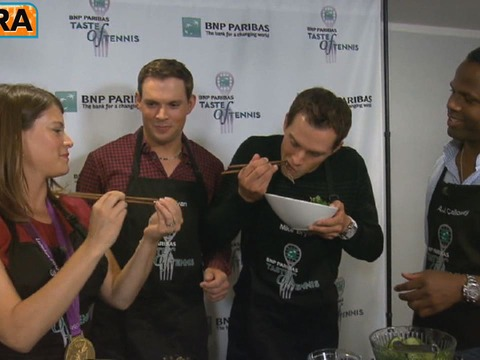 Video! 'Extra' Cooks With Olympic Gold Medalists