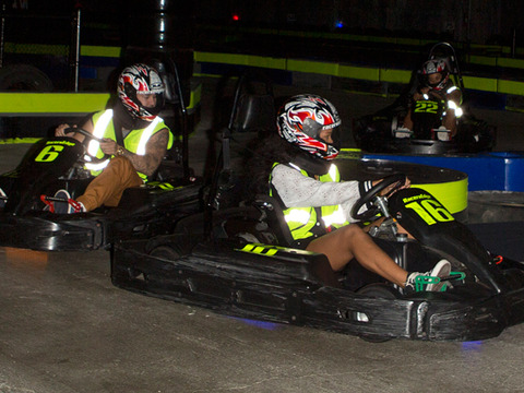 Rihanna and Rob Kardashian Spotted Go-Cart Racing, Clubbing