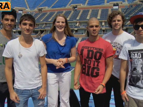 'Extra' Raw! Missy Franklin Meets The Wanted