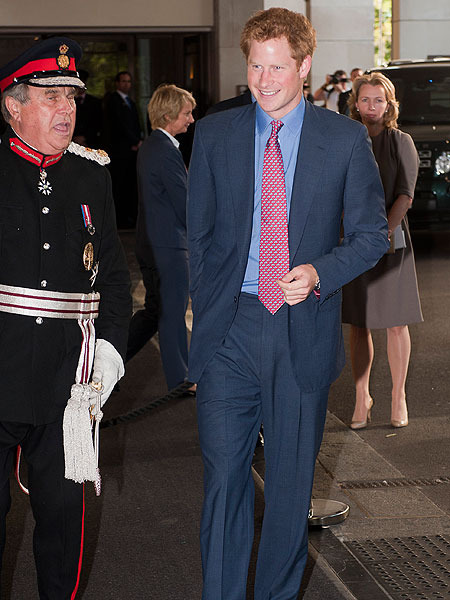 Prince Harry Makes a Public Appearance... with His Clothes On