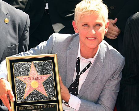 Video! Ellen DeGeneres Says 'Walk All Over' Her Walk of Fame Star