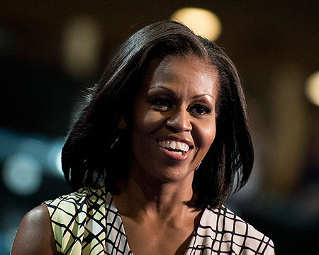 Pic! Michelle Obama Preparing for DNC Speech