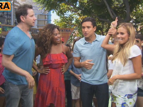 At The Grove! 'Oh Sit!' Hosts Jamie Kennedy and Tanika Ray