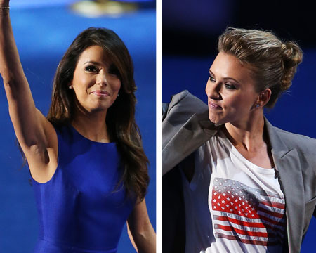 DNC: Obama Gets Support from Hollywood A-Listers Longoria and Johansson