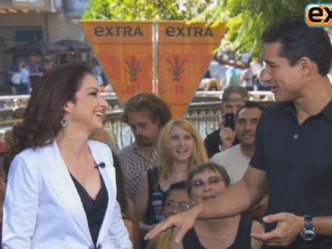 'Extra' Raw! Gloria Estefan at The Grove