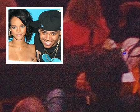 Pic! Chris Brown and Rihanna Spotted at Jay-Z's Brooklyn Show