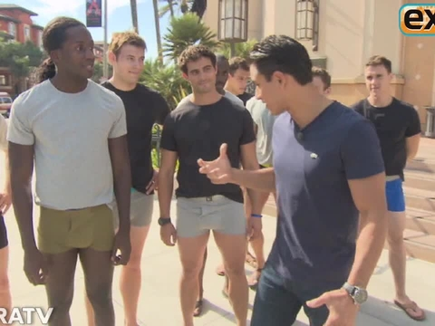 Video! Mario Lopez Leads Half-Naked Model March for MaLo Underwear