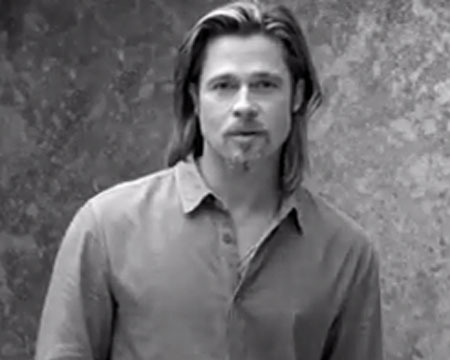 Video! Brad Pitt Smolders in Chanel No. 5 Commercial