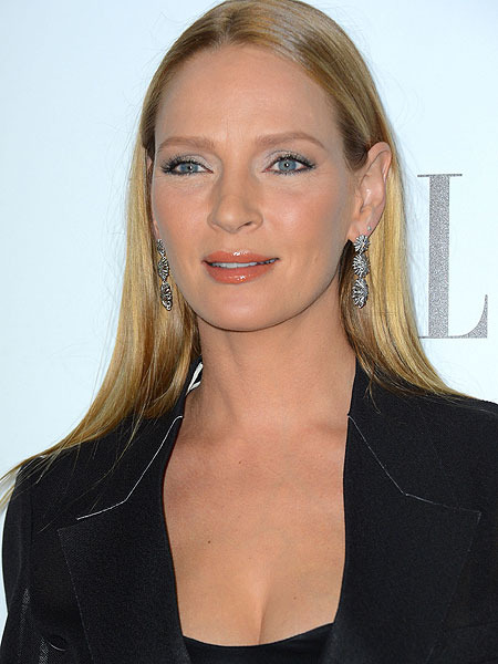 Uma Thurman Gives Baby...