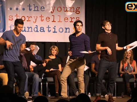 The 'Glee' Cast Does Improv for Young Storytellers