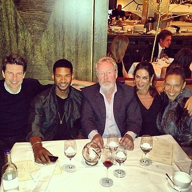 Usher's Birthday Dinner with Tom Cruise and Ridley Scott Explained