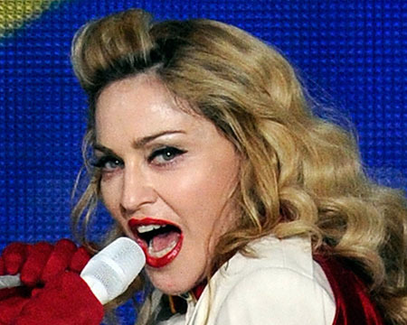 Madonna Falls, Face Plants While Skiing in the Swiss Alps