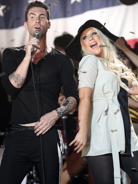 Adam Levine's Message for Christina Aguilera Haters