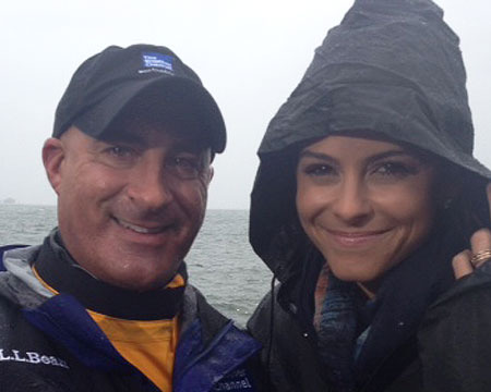 Former husband and wife couple; Jim Cantore and Tamra Cantore